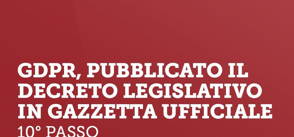 GDPR pubblicato il decreto legislativo in gazzetta ufficiale.psd